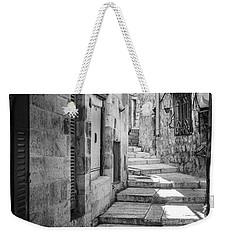 Jerusalem Street Weekender Tote Bag by Alexey Stiop