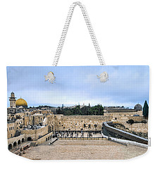 Weekender Tote Bag featuring the photograph Jerusalem The Western Wall by Ron Shoshani