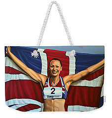 Jessica Ennis Weekender Tote Bag by Paul Meijering