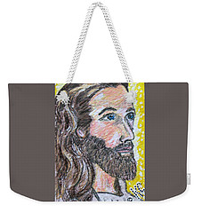 Weekender Tote Bag featuring the painting Jesus Christ by Kathy Marrs Chandler