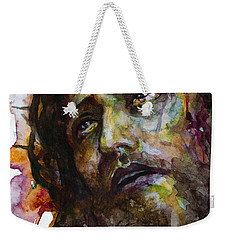 Weekender Tote Bag featuring the painting Jesus Christ by Laur Iduc
