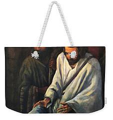 Jesus Healing Beggar Weekender Tote Bag