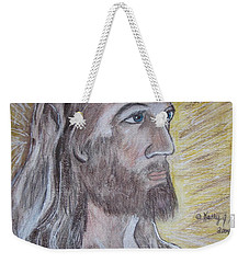 Weekender Tote Bag featuring the painting Jesus by Kathy Marrs Chandler