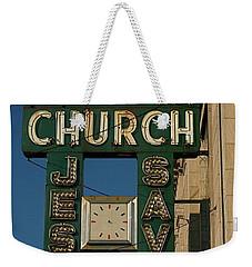 Jesus Saves Weekender Tote Bag