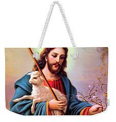 Jesus Shepherd Weekender Tote Bag by Munir Alawi