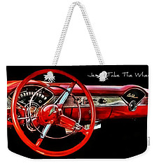 Weekender Tote Bag featuring the photograph Jesus Take The Wheel by Victor Montgomery