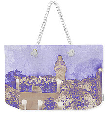 Weekender Tote Bag featuring the photograph All Saints Day In Lacombe Louisiana by Luana K Perez