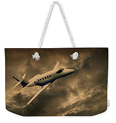 Jet Through The Clouds Weekender Tote Bag