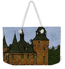 Weekender Tote Bag featuring the drawing Jethro's Castle by Meg Shearer