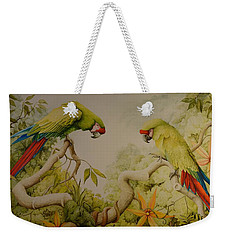 Jewels Of The Rain Forest  Military Macaws Weekender Tote Bag