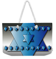Weekender Tote Bag featuring the digital art Jewish Stars by Marvin Blaine