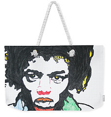 Weekender Tote Bag featuring the painting Jimi Hendrix by Stormm Bradshaw