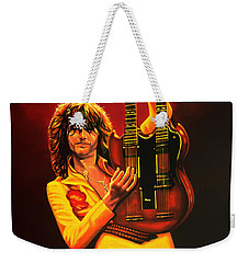 Jimmy Page Painting Weekender Tote Bag by Paul Meijering