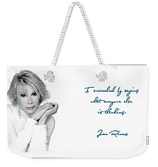Joan Rivers Weekender Tote Bag by Maciek Froncisz