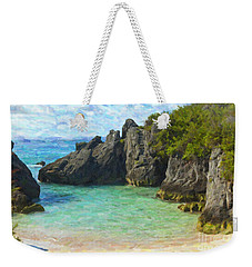 Weekender Tote Bag featuring the photograph Jobson Cove Beach by Verena Matthew