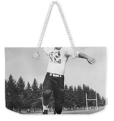 Joe Francis Throwing Football Weekender Tote Bag by Underwood Archives