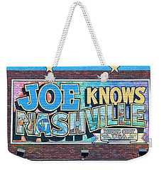 Joe Knows Nashville Weekender Tote Bag by Frozen in Time Fine Art Photography
