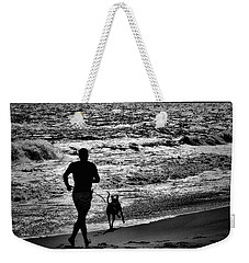 Joggin Wit Dad Weekender Tote Bag by Robert McCubbin