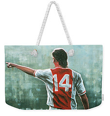 Johan Cruijff Nr 14 Painting Weekender Tote Bag