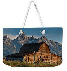 Weekender Tote Bag featuring the photograph John And Bartha Moulton Barn by Jeff Goulden
