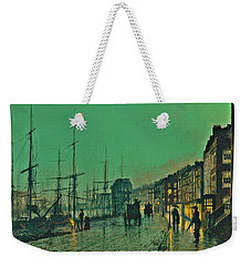 John Atkinson Grimshaw Shipping On The Clyde 1881 Weekender Tote Bag by Movie Poster Prints