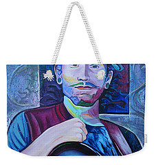 Weekender Tote Bag featuring the painting John Butler by Joshua Morton