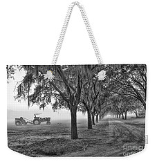 John Deer Tractor And The Avenue Of Oaks Weekender Tote Bag