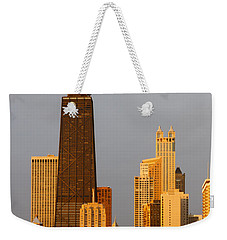 John Hancock Center Chicago Weekender Tote Bag by Adam Romanowicz