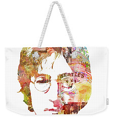 John Lennon Weekender Tote Bag by Mike Maher
