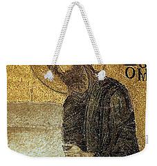 John The Baptist-detail Of Deesis Mosaic  Hagia Sophia-judgement Day Weekender Tote Bag