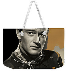 John Wayne  Publicity Photo In Costume Stagecoach 1939-2009 Weekender Tote Bag