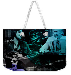 Johnny Carson And Freddie Prince Jr Weekender Tote Bag by Marvin Blaine