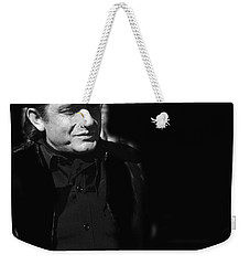 Weekender Tote Bag featuring the photograph Johnny Cash Film Noir Homage Old Tucson Arizona 1971 by David Lee Guss