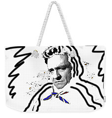 Weekender Tote Bag featuring the photograph Johnny Cash Man In White Literary Homage Old Tucson Arizona 1971-2008 by David Lee Guss
