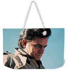 Weekender Tote Bag featuring the photograph Johnny Cash  Music Homage Ballad Of Ira Hayes Old Tucson Arizona 1971 by David Lee Guss