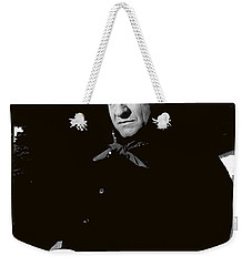 Weekender Tote Bag featuring the photograph Johnny Cash Sitting With Cup  Old Tucson Arizona 1971-2009 by David Lee Guss