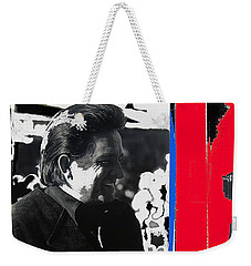 Weekender Tote Bag featuring the photograph Johnny Cash  Smiling Collage 1971-2008 by David Lee Guss