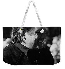 Weekender Tote Bag featuring the photograph Johnny Cash Smiling Old Tucson Arizona 1971 by David Lee Guss