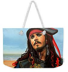 Johnny Depp As Jack Sparrow Weekender Tote Bag