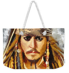 Johnny Depp Jack Sparrow Actor Weekender Tote Bag