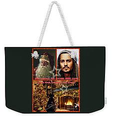 Johnny Depp Xmas Greeting Weekender Tote Bag