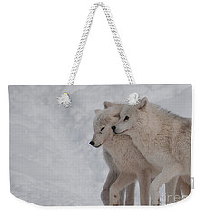Weekender Tote Bag featuring the photograph Joined At The Hip by Bianca Nadeau