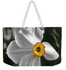 Weekender Tote Bag featuring the photograph Jonquil by Judy Via-Wolff