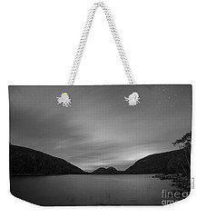 Jordan Pond Blue Hour Bw Weekender Tote Bag