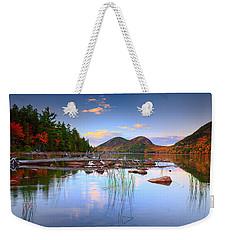 Jordan Pond In Fall Weekender Tote Bag