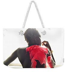Josephine Red Weekender Tote Bag by Rebecca Harman