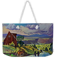 Journey Along The Road To Infinity Weekender Tote Bag