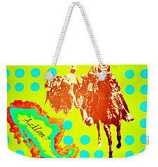 Weekender Tote Bag featuring the painting Journey To Aztlan by Michelle Dallocchio