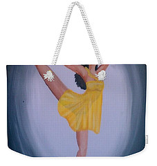Weekender Tote Bag featuring the painting Joy by Marisela Mungia