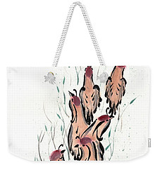 Weekender Tote Bag featuring the painting Joyful Excursion by Bill Searle